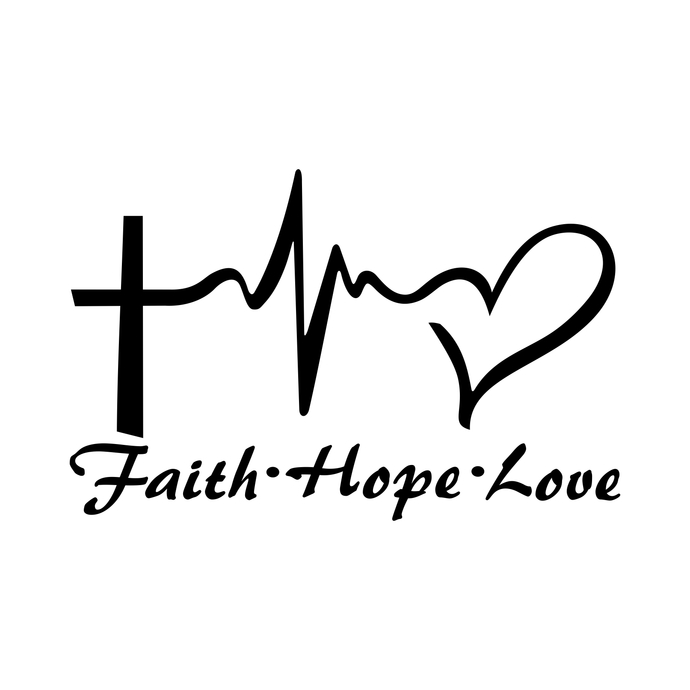 Download Faith Hope Love Heart graphics design SVG DXF by ...