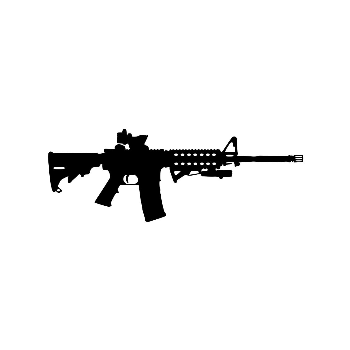 Ar 15 Gun Ammo Assault Rifle M16 Graphics By Vectordesign