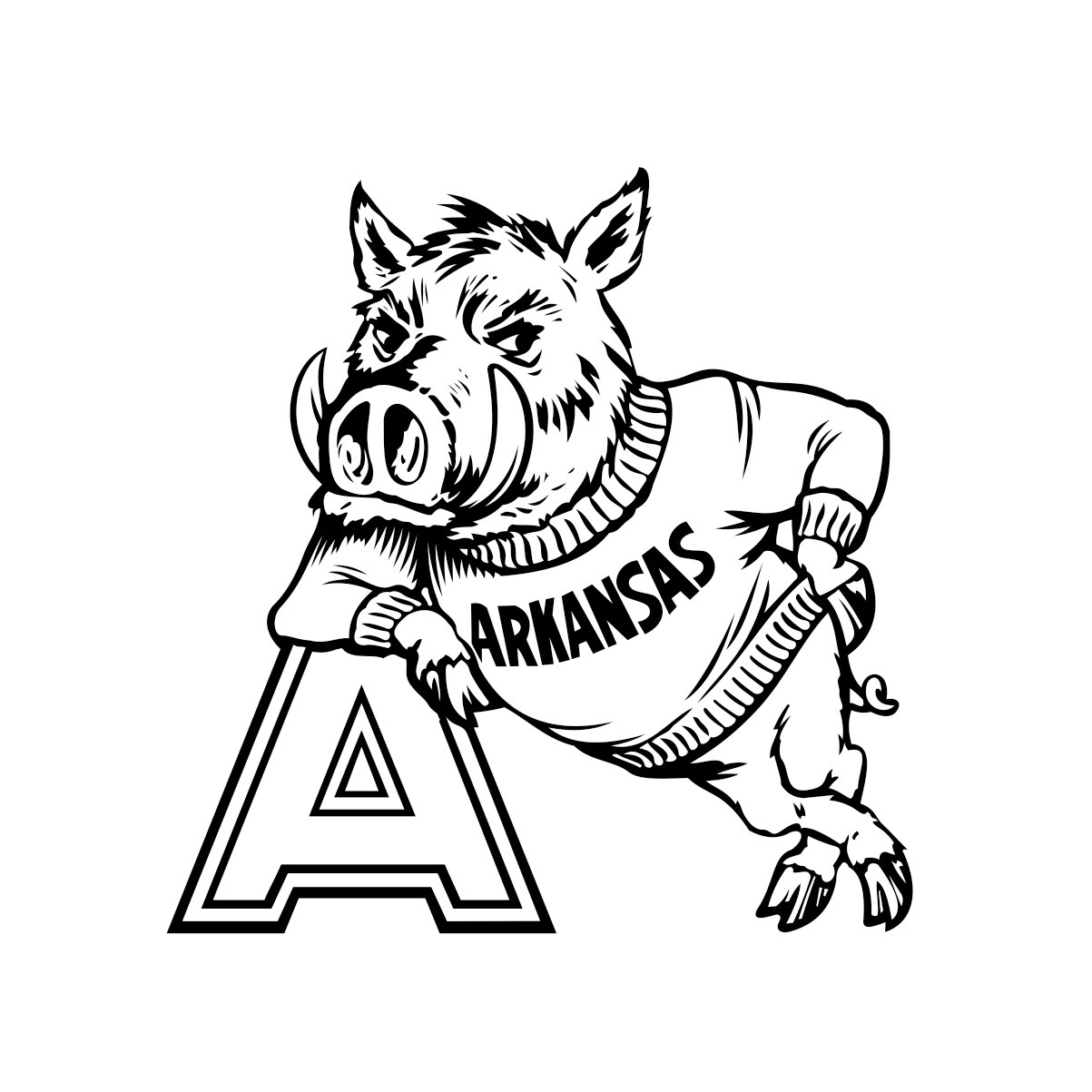 University Of Arkansas Razorback Cornhole By Vectordesign