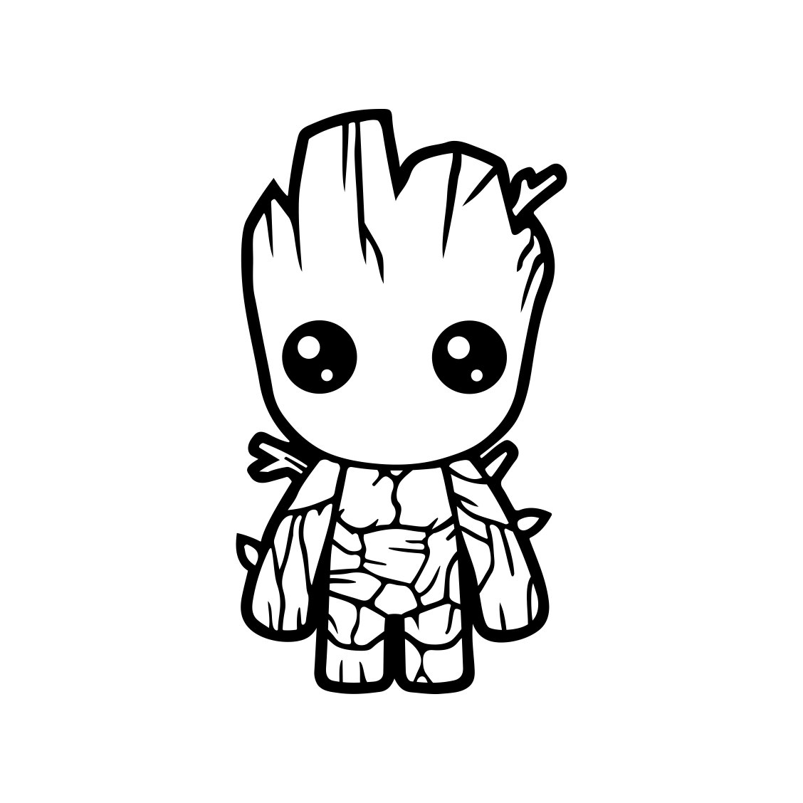 Baby Groot Guardians Of The Galaxy Graphics By