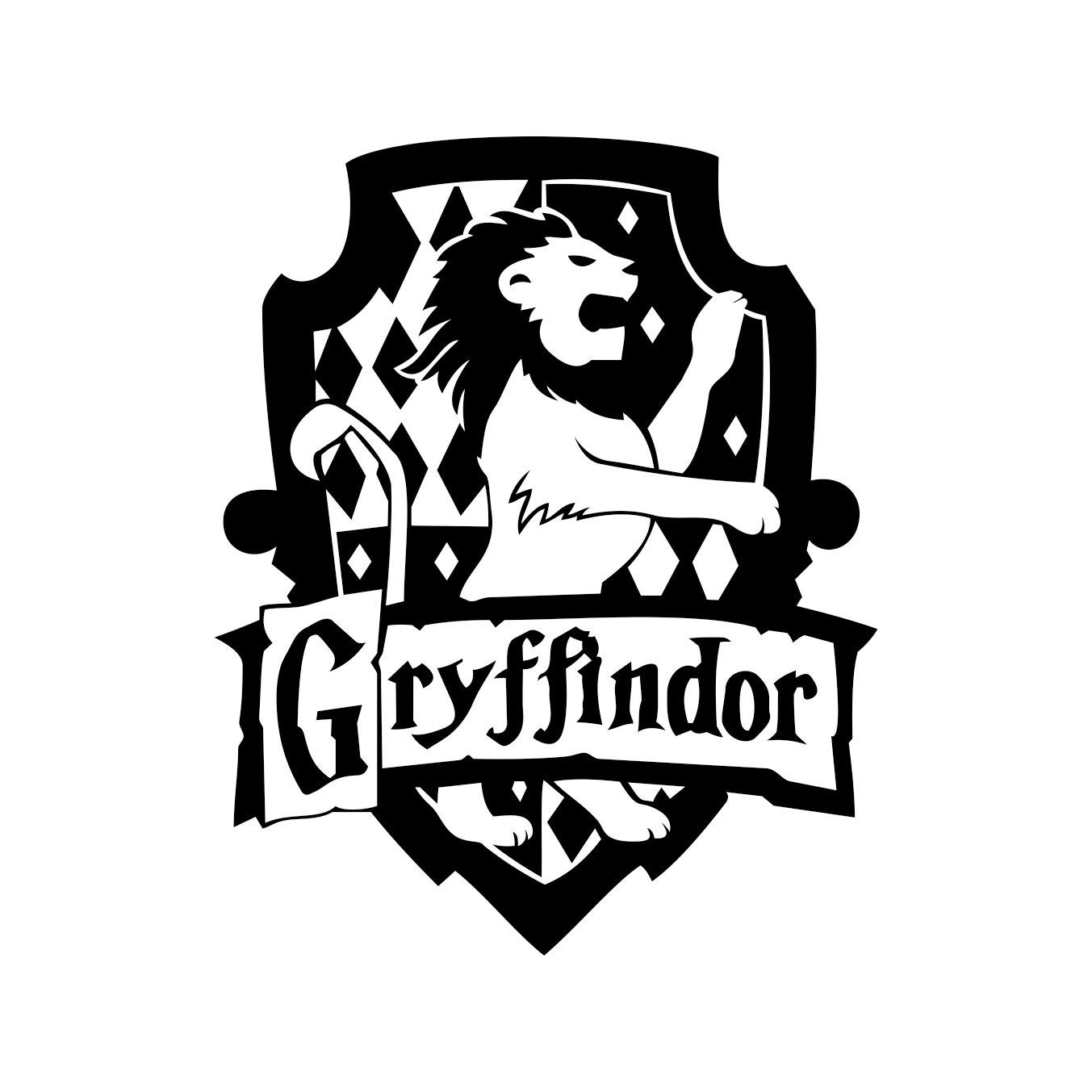 Gryffindor Harry Potter House Badge Crest By Vectordesign
