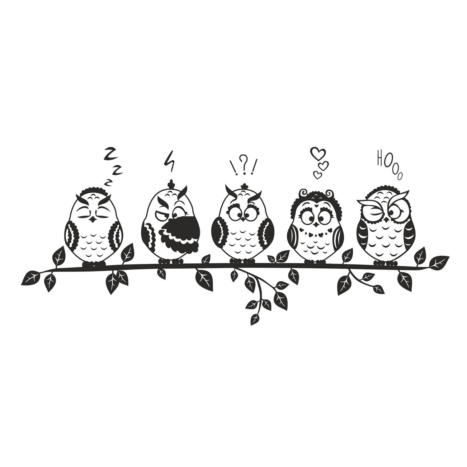 Owl Family Graphics Design Svg Dxf Eps By Vectordesign