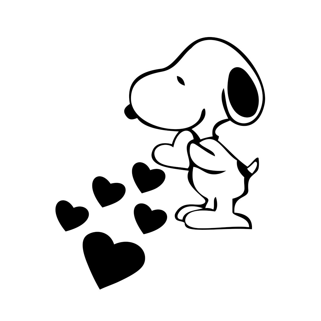 Snoopy Love Hearts Graphics Design Svg Dxf By Vectordesign