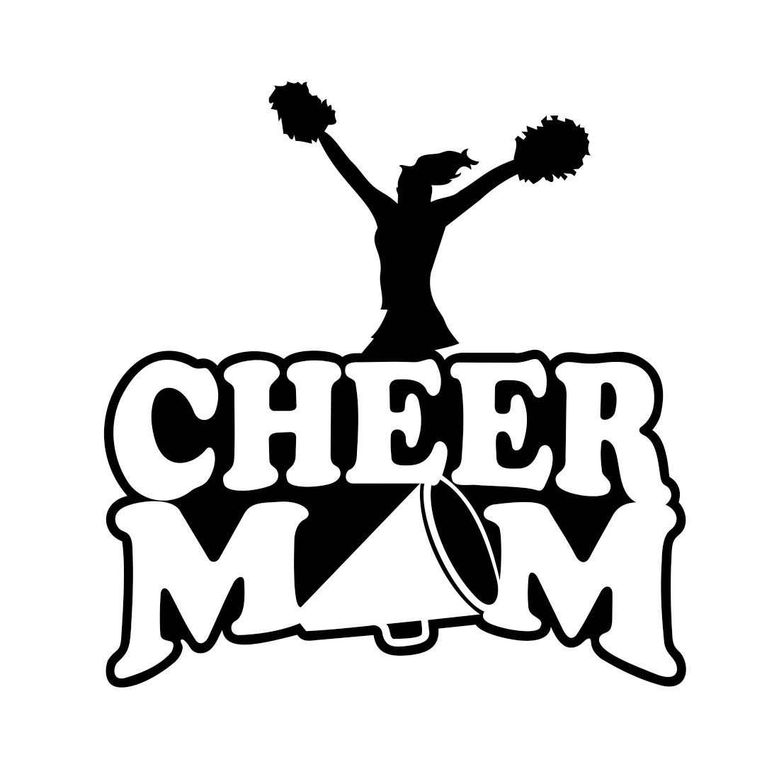 Cheer Mom Sports Graphics Design Svg Dxf Eps By