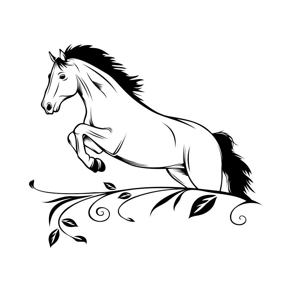 Horse Svg Cricut Silhouette Graphics Design By