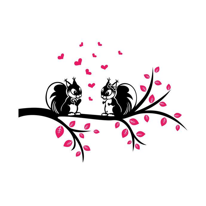 Download Love Squirrels graphics design SVG DXF EPS by vectordesign ...