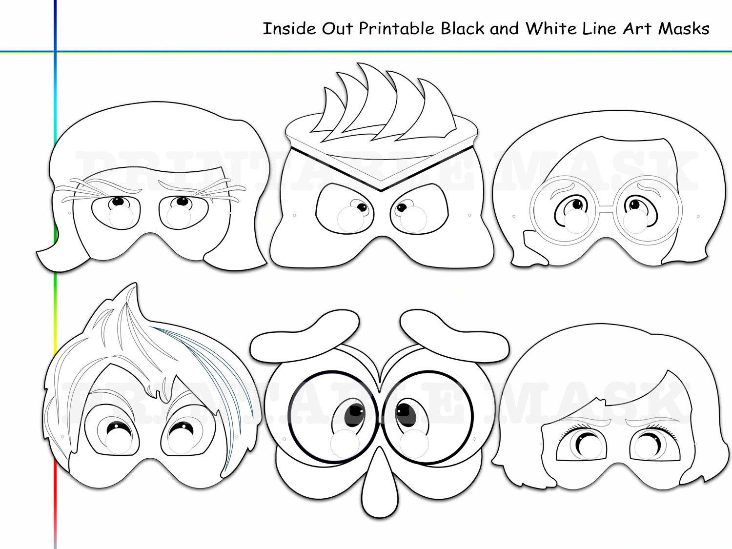 Coloring Pages Inside Out Printable Black By