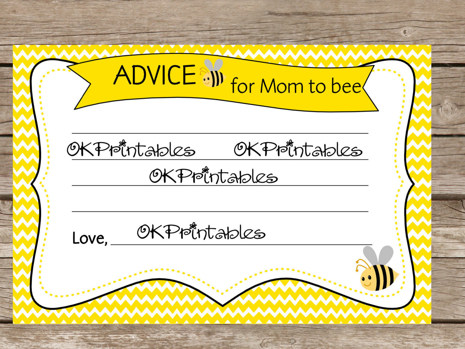 Bumble Bee Advice Cards