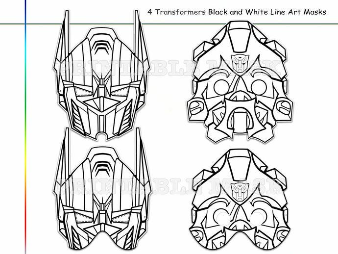 Optimus Prime Mask Printable Template