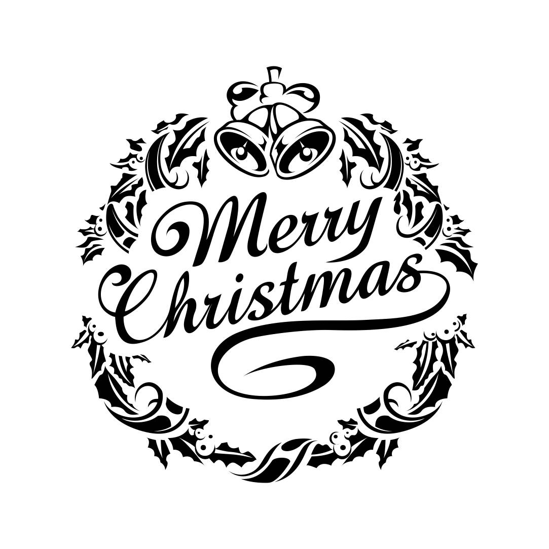 Merry Christmas Ornament Graphics Svg Dxf Eps By