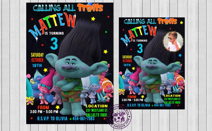 trolls invitation trolls party trolls birthday invitation printable trolls invitation boy trolls invitation trolls invitation boys