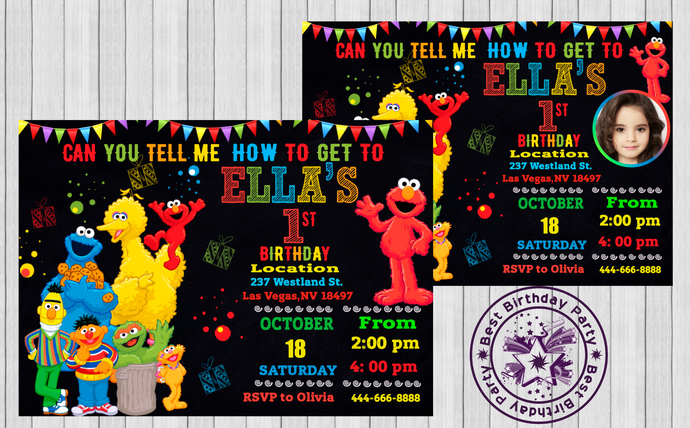 celebrations occasions sesame street elmo elmo invitation birthday party invitation home furniture diy itkart org