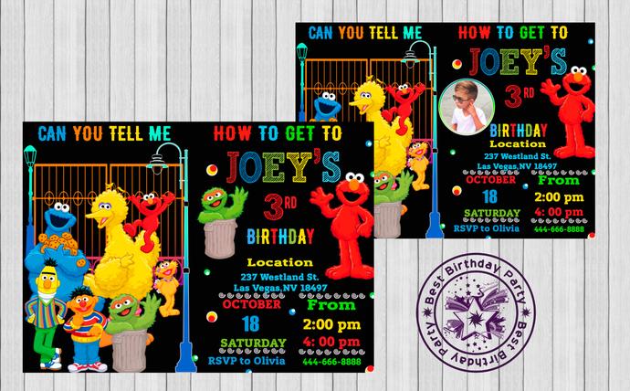 sesame street invitation sesame street birthday invitation sesame street sesame street birthday party for boy printable invitation invite