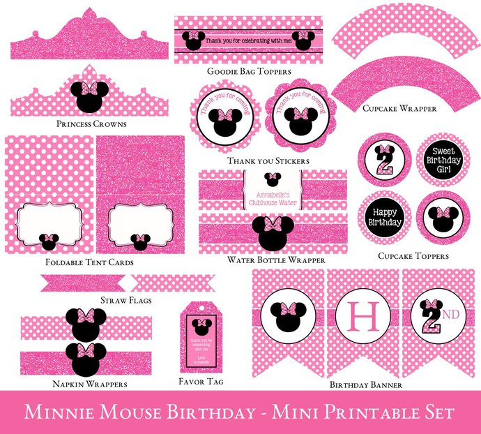 Minnie Mouse 2nd Birthday Party By Sugarpickle Designs On Zibbet