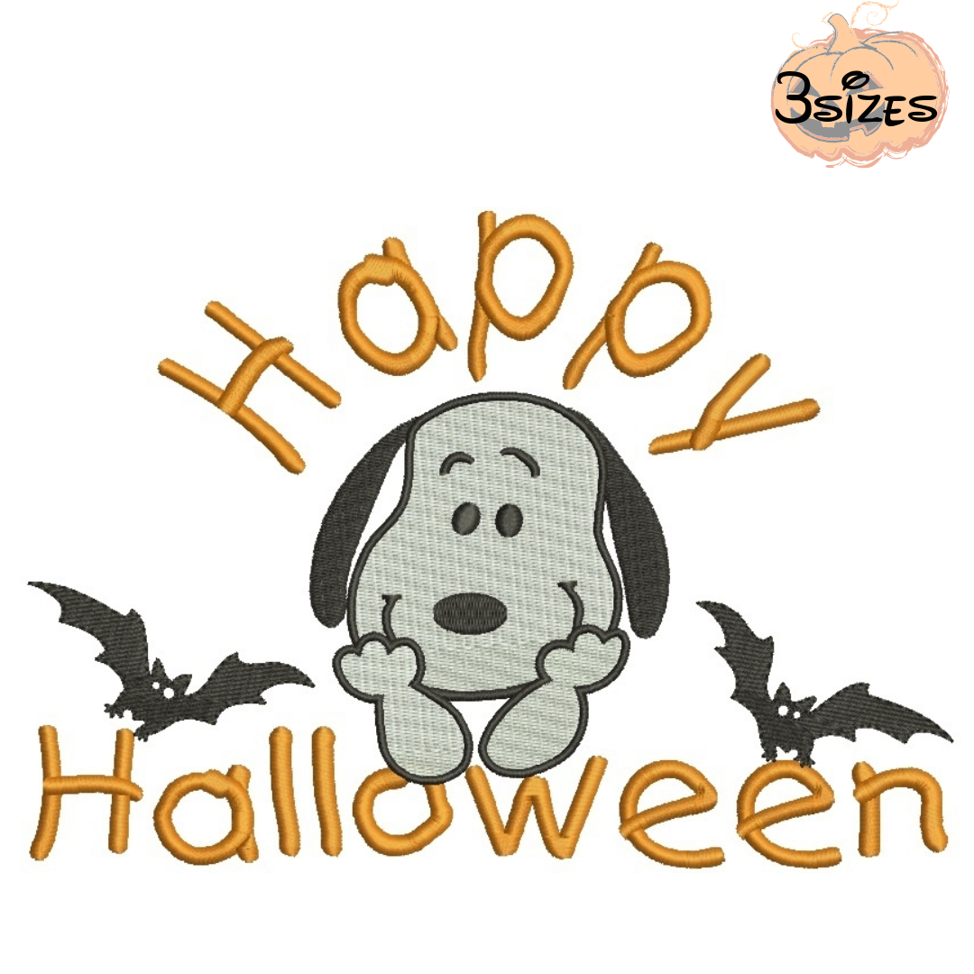 Snoopy Happy Halloween Embroidery Machine