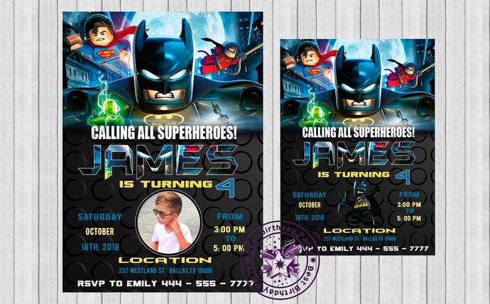 Lego Invitation Lego Batman Birthday Party Invitations Superhero Invitation Lego Batman Birthday Party Invitations Lego Batman Birthday