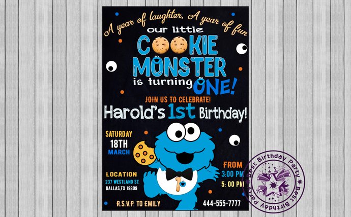 cookie monster invitation invitations cookie monster cookie monster printable invitations cookie monster first birthday invitations
