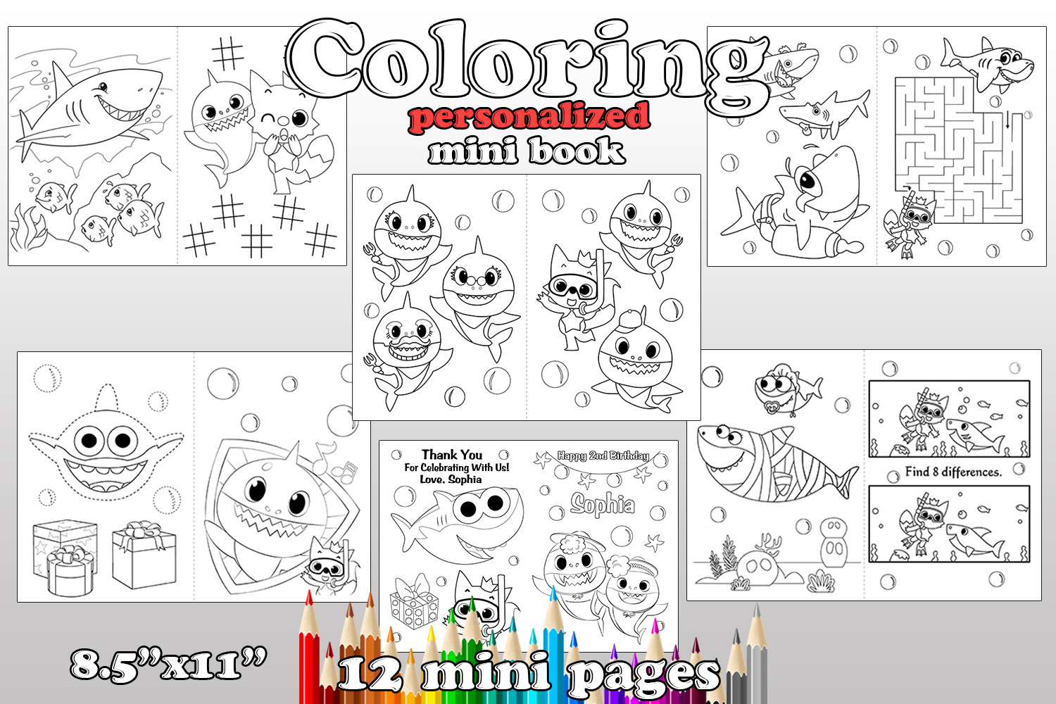 Shark Birthday Party Shark Coloring Pages By