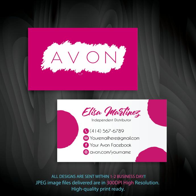 Custom Business Cards Avon Business Cards Personalized Avon Business Cards Custom Avon Business Cards Avon Card Av01