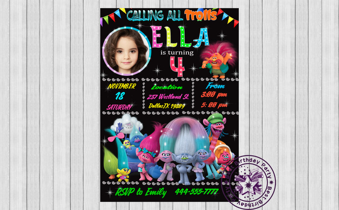 trolls invitation poppy birthday invitation trolls birthday invitation trolls invitations trolls photo birthday invitation trolls jpeg