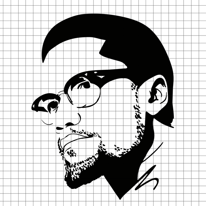 Download Malcolm x svg for cricut, african american by Digital4U on ...