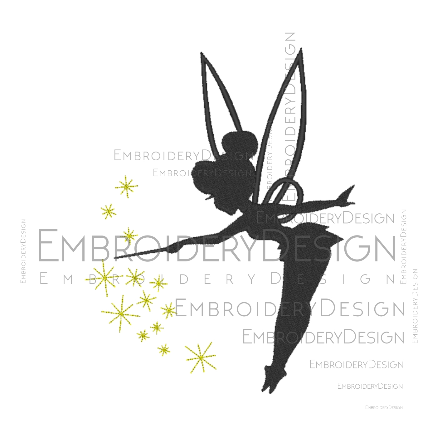 Tinkerbell Peter Pan Silhouette Neverland By Vectordesign
