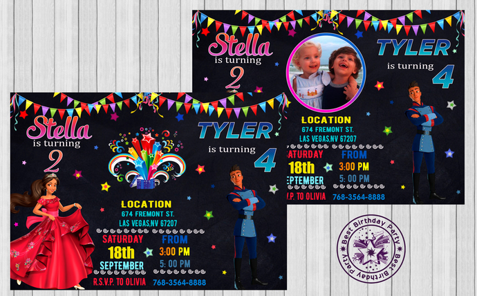 sibling birthday invitations brother sister dual birthday party invitations twins birthday invitation double birthday invitation