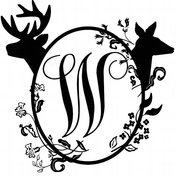 Download Over Sized Doe and Buck Mailbox Monogram Vinyl | LilBitOLove
