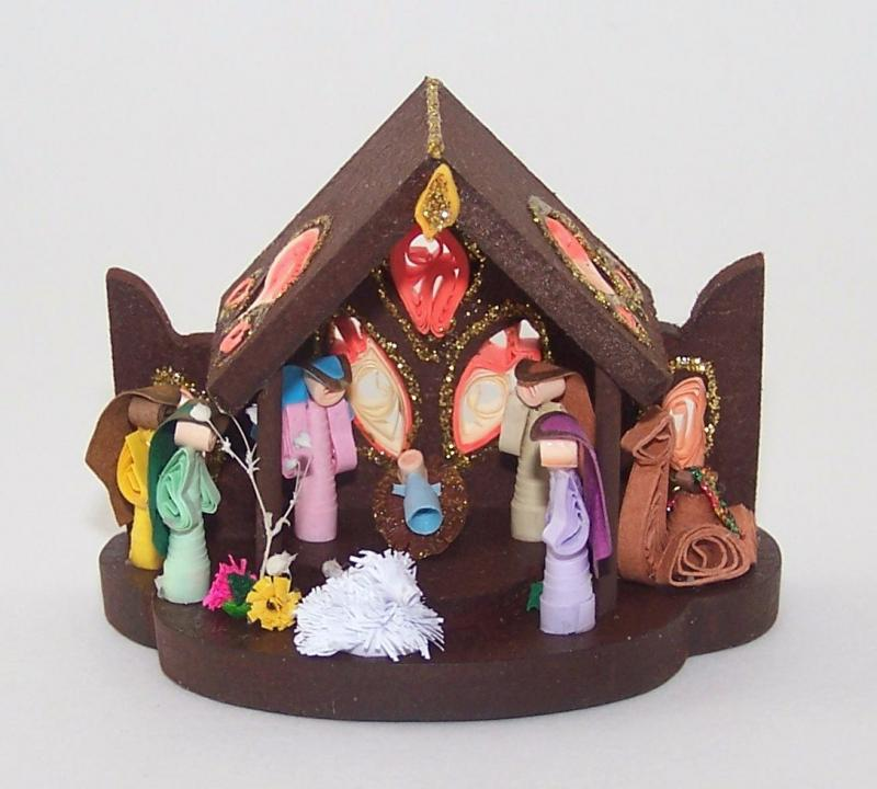 Paper Quilling Nativity Set By ColombiArts On Zibbet