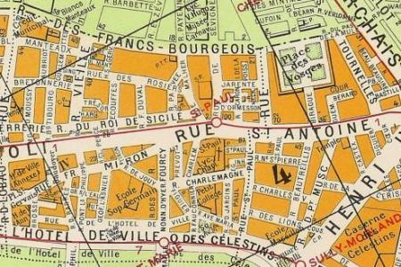 Paris France City Map Path Decorations Pictures Full Path Decoration - Large map of paris france