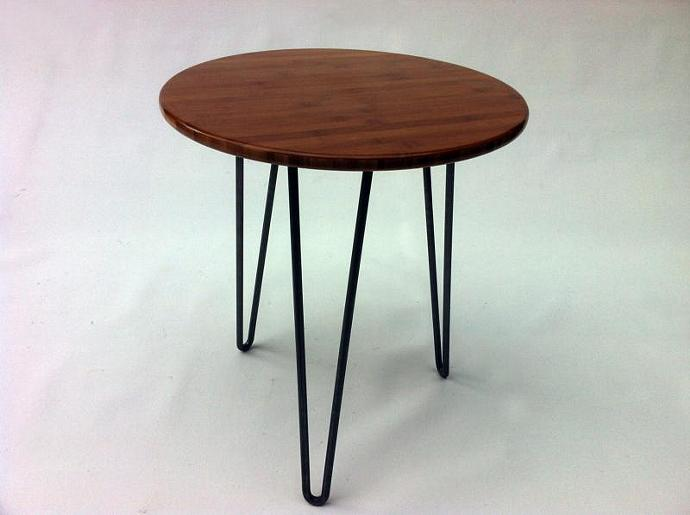 "20"" Round Mid Century Modern Side Table"