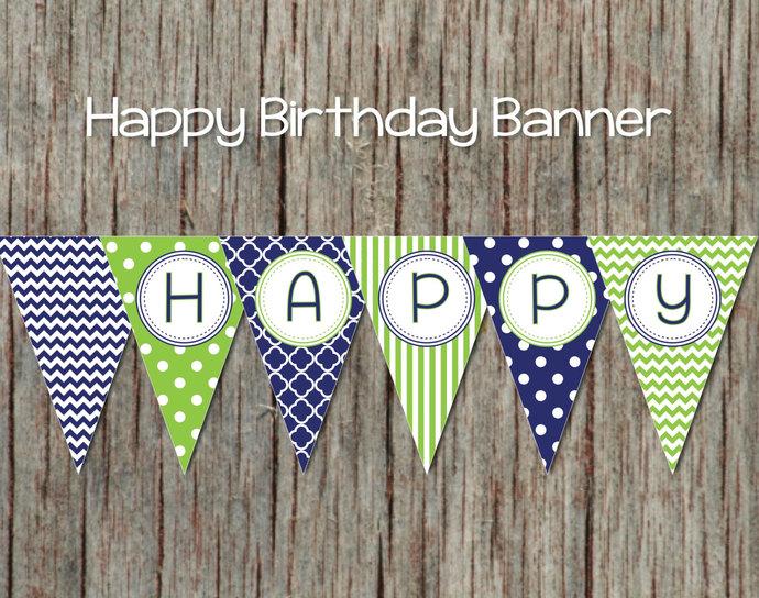 Printable Birthday Banner Diy Happy Bumpandbeyonddesigns