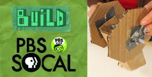 pbs socal logo and cardboard rover