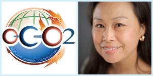 OCO-2 Logo, Photo of Karen Yuen