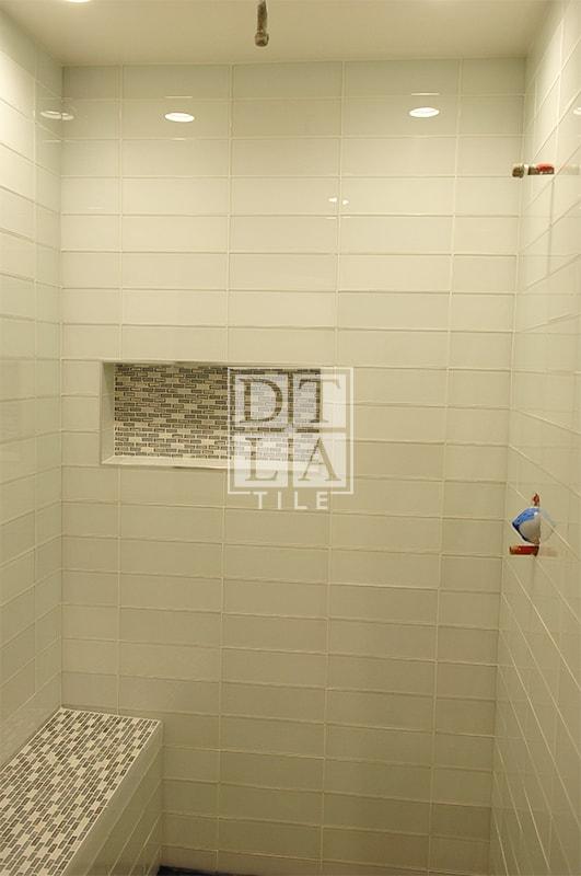 malibu glass tile shower wall