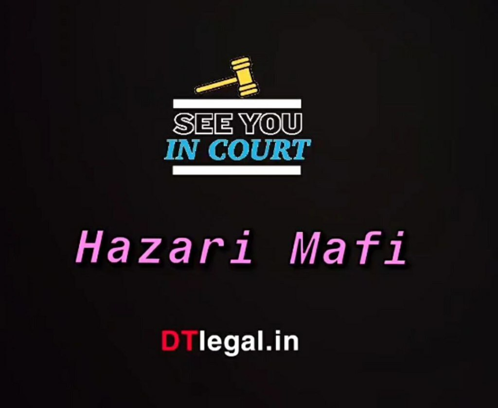 "What is ""Hazari Mafi""? 