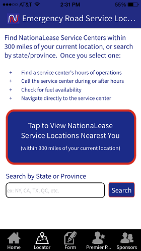 """""""Nationalease Emergency Services and Fuel App"""""""