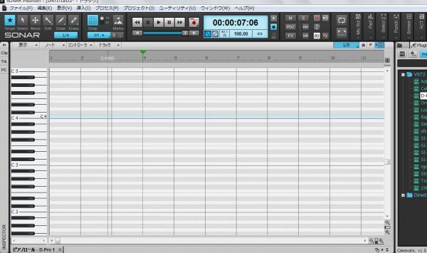 Shift+Dでピアノロールを大きく表示