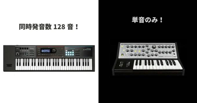 キーボード 楽器 モノフォニック
