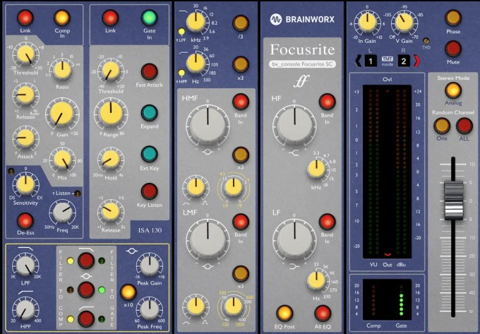Plugin Alliance Brainworx bx_console Focusrite SC