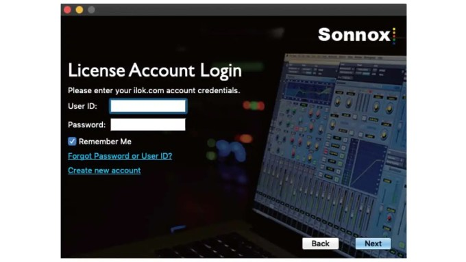 User-ID-password-sonnox-ilok