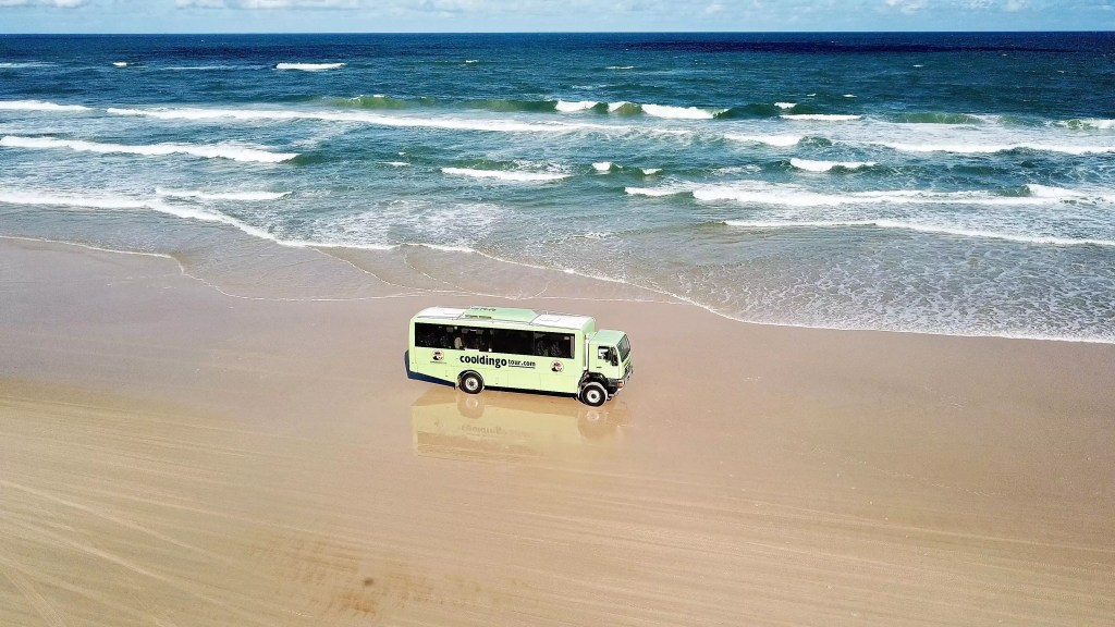 Cool Dingo Bus on 75 Mile Beach