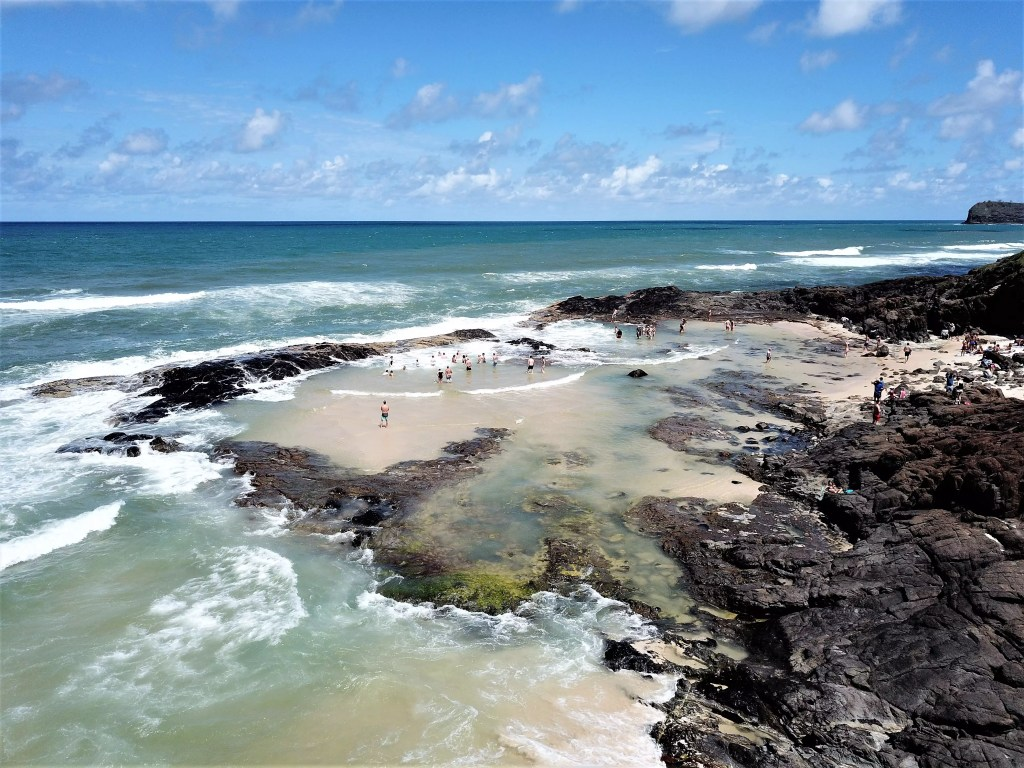 Champagne Pools on Fraser Island