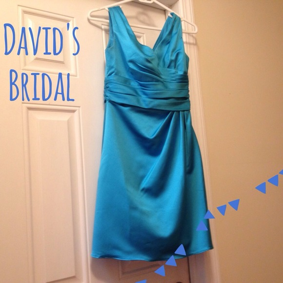 David s Bridal Dresses   Davids Bridal Bridesmaid Dress F14823 In     David s Bridal Bridesmaid Dress F14823 in Malibu