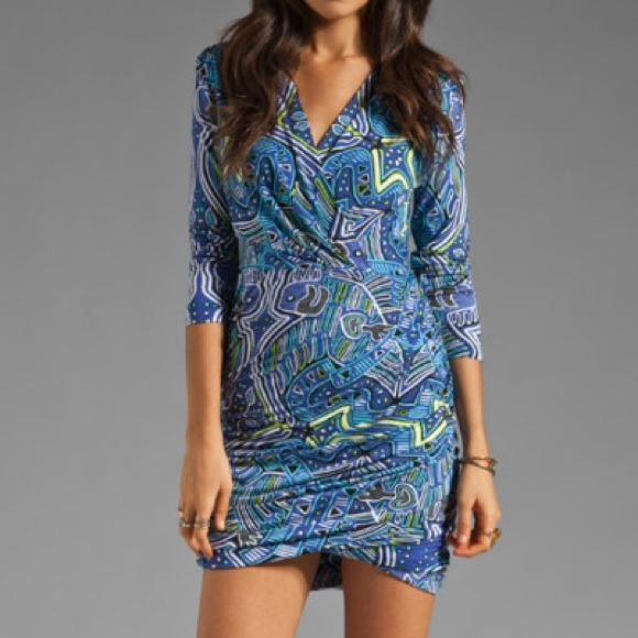 Mara Hoffman Blue Drape Dress $185