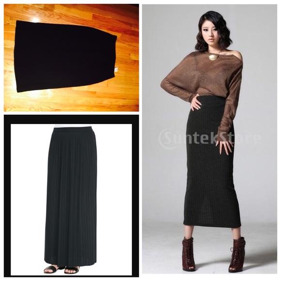 Long Midi Skirt - Skirts