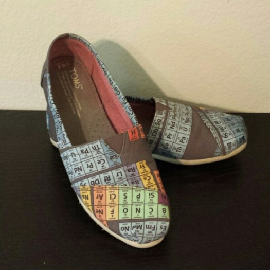 Toms Periodic Table Vegan Shoes Periodic Diagrams Science