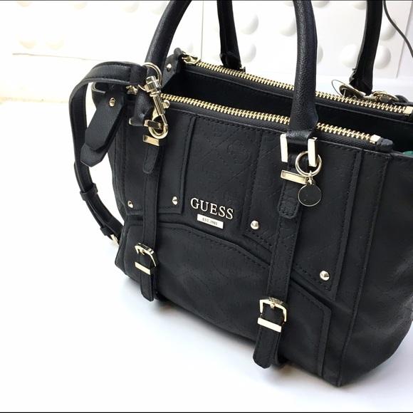 Guess Bags Multi Compartments Black Satchel Vegan Poshmark