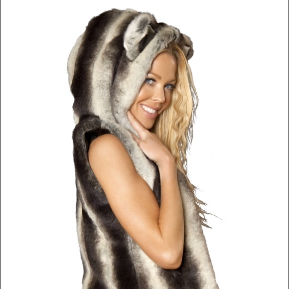 53 Off J Valentine Other Chinchilla Hooded Faux Fur