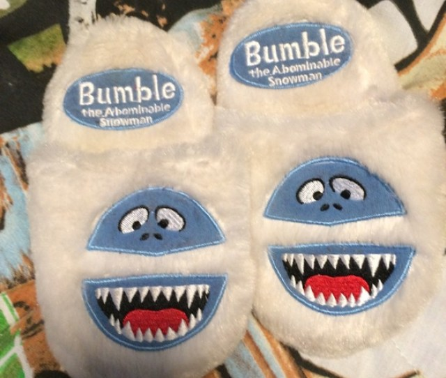 Bumble The Abominable Snowman Slippers Size  C